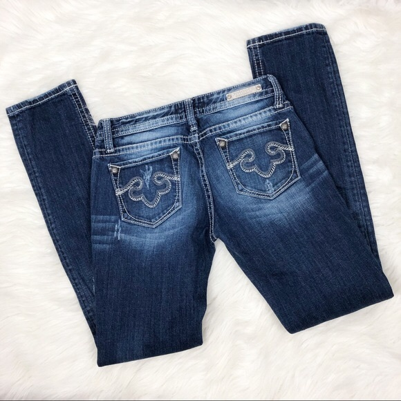 Express Denim - ReRock For Express Skinny Jeans Size 2